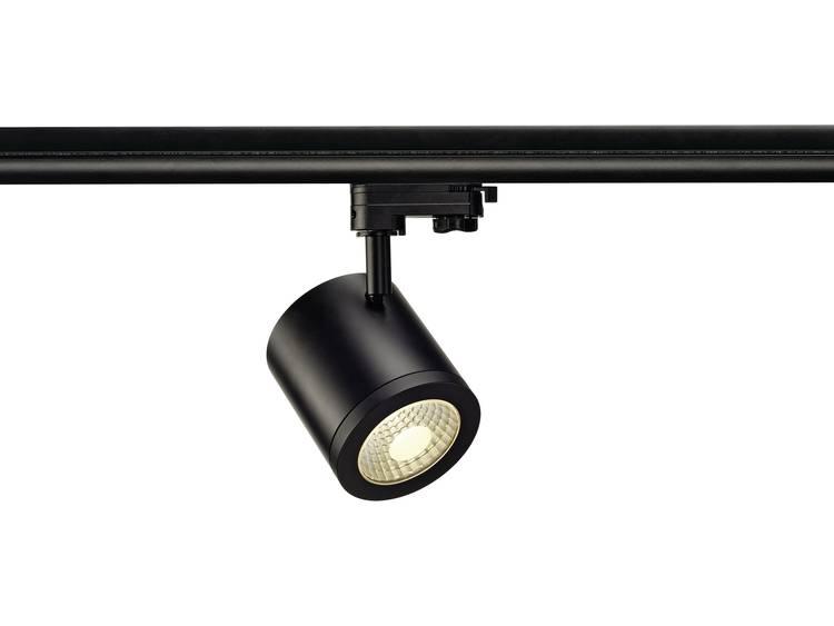 SLV HoogspanningsrailsysteemRailsysteemlamp Enola 152420 Zwart LED vast ingebouwd