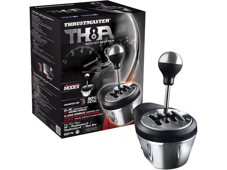 Versnellingspook Thrustmaster TX Racing Wheel TH8A Shifter AddOn PlayStation 3, PlayStation 4, PC, Xbox One Zwart-chroom