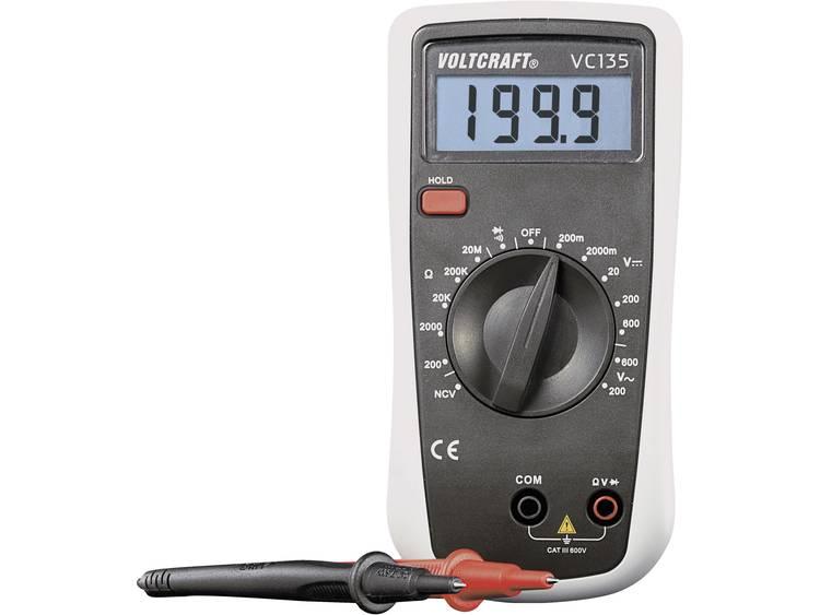 VOLTCRAFT VC135 Multimeter Digitaal Kalibratie conform Fabrieksstandaard zonde