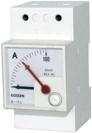 GMW DQB 45H, MB 1 mA, Sk 100 % DQB 45H Series paneelmeters