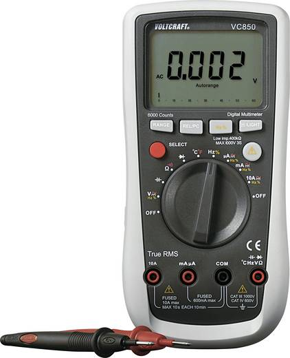 Multimeter VOLTCRAFT VC850 CAT III 1000 V, CAT IV 600 V Fabrieksstandaard (zonder certificaat)