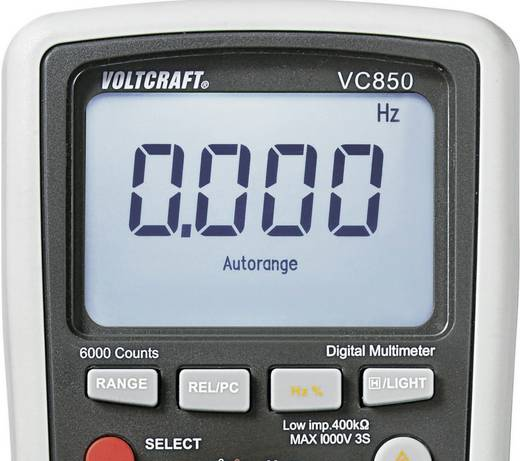 VOLTCRAFT VC850 Multimeter Digitaal Kalibratie: Zonder certificaat CAT III 1000 V, CAT IV 600 V Weergave (counts): 6000