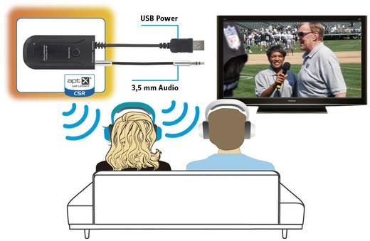 Renkforce Bluetooth muziekzender BTX-1300 Bluetooth versie: 3.0 +EDR, SBC 10 m AptX-technologie