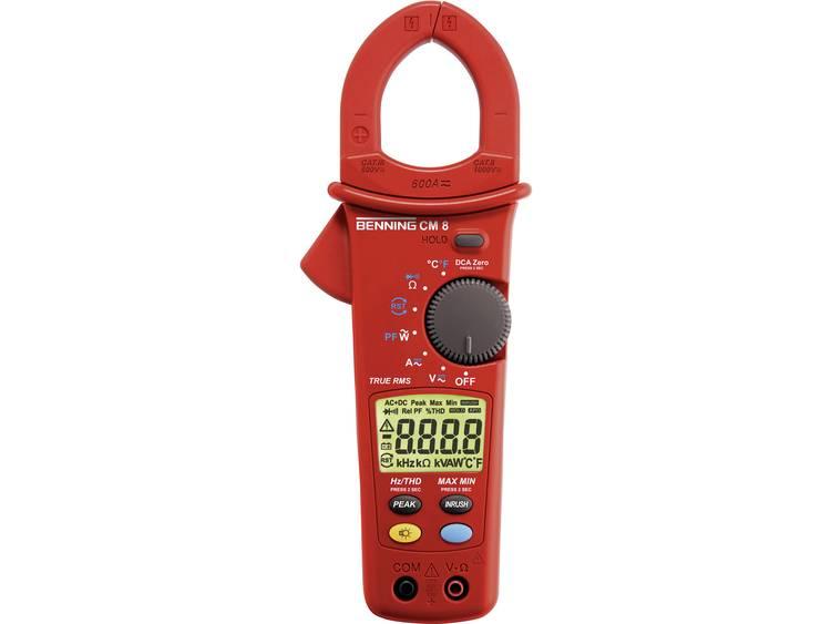 Benning CM 8 Stroomtang Multimeter Kalibratie Fabrieksstandaard zonder certif