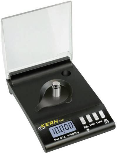 TAB 20-3 Zakweegschaal Kern Weegbereik (max.) 20 g Resolutie 0.001 g Werkt op batterijen Zwart