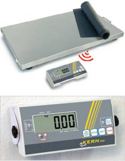 Kern EOS 300K100XLF Platformweegschaal Weegbereik (max.) 300 kg Resolutie 100 g werkt op het lichtnet, werkt op batterij
