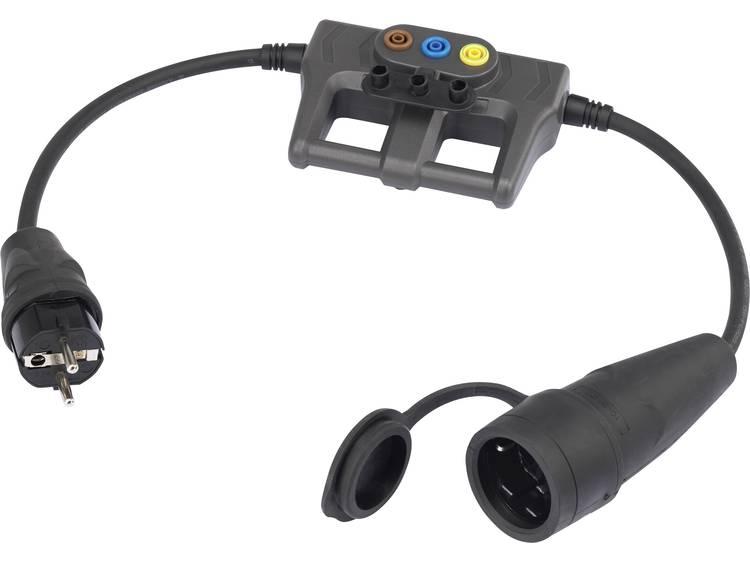 Meetadapter [ Geaarde rubberen stekker Geaarde rubberen koppeling] VOLTCRAFT DLA-1L 16