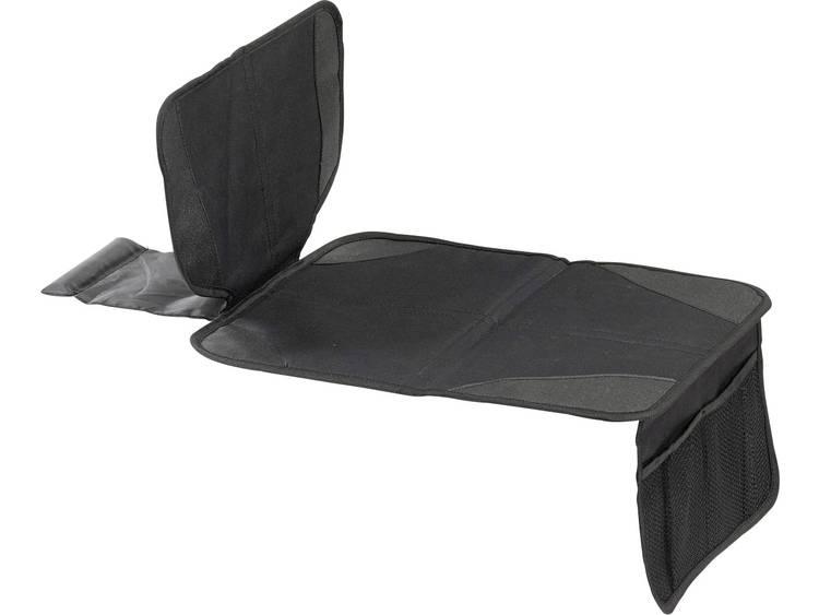 Onderlegger voor kinderzitje Kindersitz Unterlage mit Netztaschen Antirutschfunktion Zwart DINO