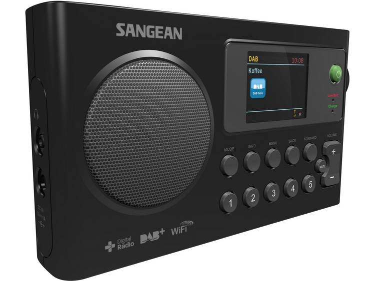 Sangean WFR-27 C Transistorradio met internetradio DAB+, FM Internetradio Accu l