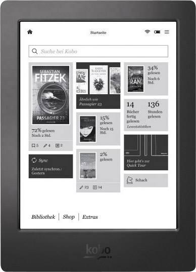 Kobo Glo HD eBook Reader zwart - verblindingsvrij met E Ink-scherm ...