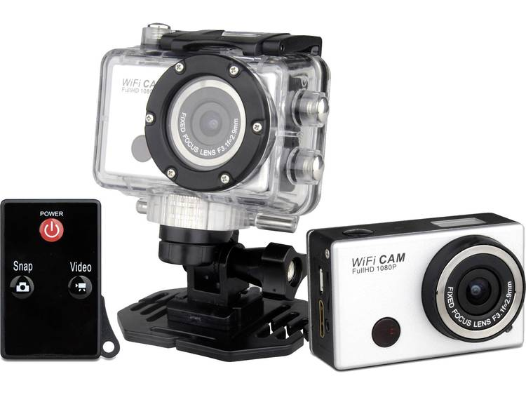 Denver AC-5000 W Actioncam Waterdicht, Schokbestendig, Stofdicht, Full-HD, WiFi