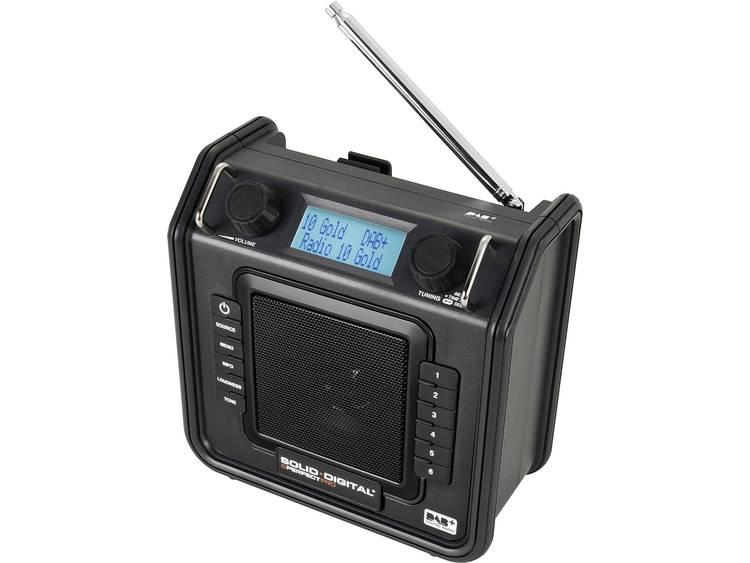 PerfectPro Soliddigital Bouwradio DAB+, FM AUX Spatwaterbestendig, Stofdicht, St