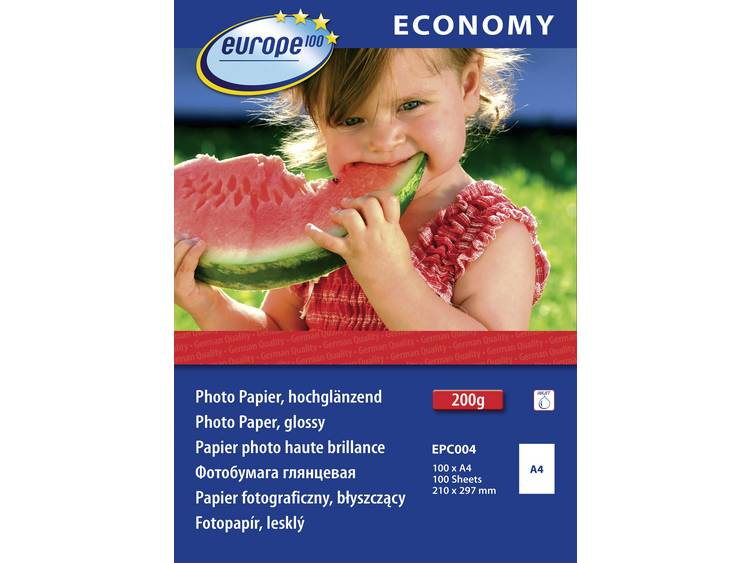 Europe 100 Economy Photo Paper Glossy EPC004 Fotopapier DIN A4 210 g/m² 100 vellen Hoogglans