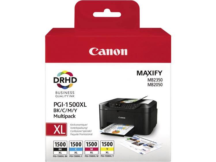 Canon Inkt PGI-1500 XL BKCMY Origineel Combipack Zwart, Cyaan, Magenta, Geel 9182B004