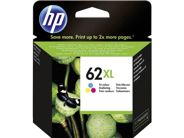 HP Inkt 62XL Origineel Cyaan, Magenta, Geel C2P07AE