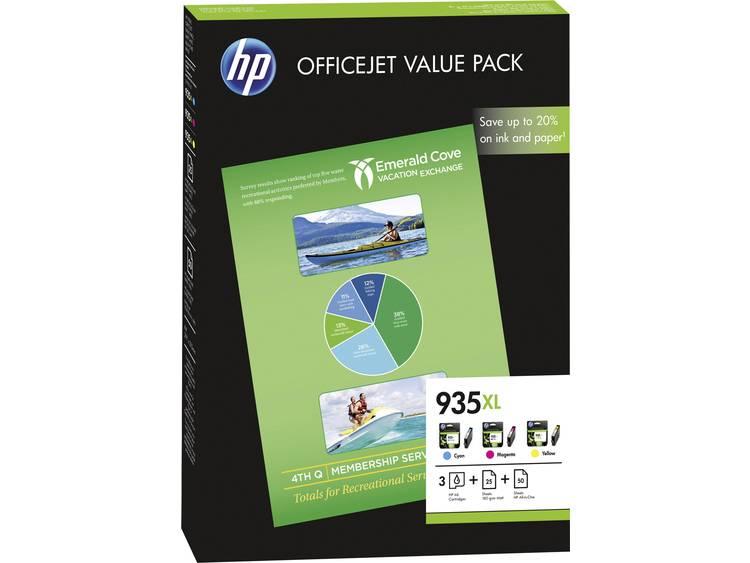 HP Inkt 935XL Origineel Combipack Cyaan, Magenta, Geel F6U78AE