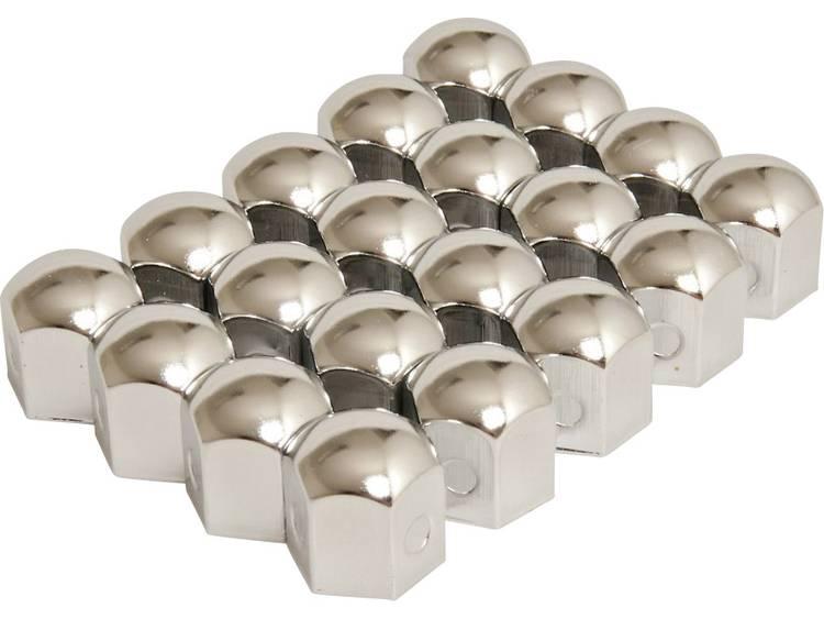 Wielschroefdop Geschikt voor schroefgrootte 19 mm Chroom Metaal HP Autozubehör