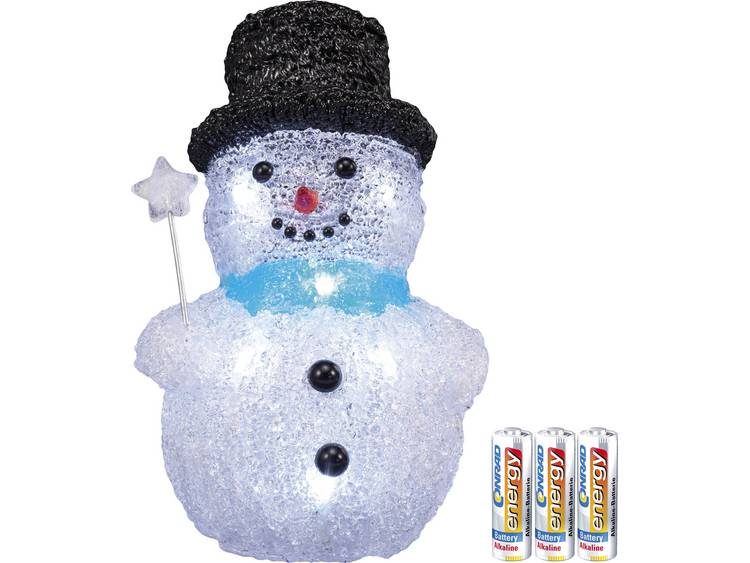Acryl figuur Sneeuwman met batterijen LED Polarlite