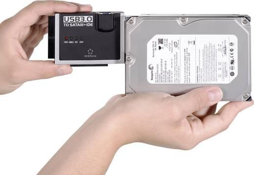 Converter USB 3.0 Renkforce [1x USB 3.0 stekker A - 1x IDE bus 40-polig, IDE bus 44-polig, SATA-combi-stekker 15+7-polig