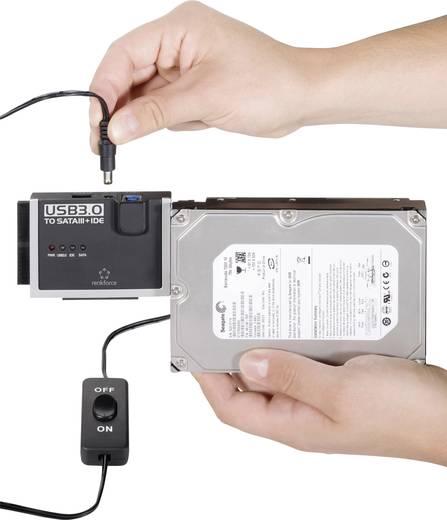 Renkforce USB 3.0 Converter [1x USB 3.0 stekker A - 1x IDE bus 40-polig, IDE bus 44-polig, SATA-combi-stekker 15+7-polig] 1.20 m Zwart