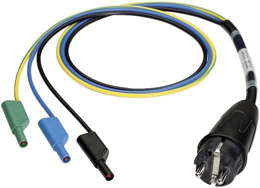 Meetadapter Benning 044142 [ Randaarde stekker - Banaanstekker 4 mm] Aanraakveilig Zwart, Blauw, Groen-geel
