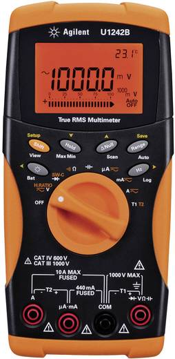 Keysight Technologies U1242B Multimeter Digitaal Kalibratie: Zonder certificaat Datalogger CAT III 1000 V, CAT IV 600 V Weergave (counts): 10000