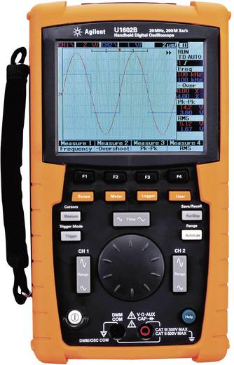 Keysight Technologies U1602B-001 Handoscilloscoop (scoopmeter) 20 MHz 2-kanaals 100 MSa/s 125 kpts 8 Bit Digitaal geheu