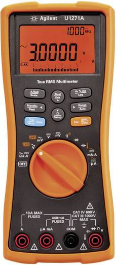 Keysight Technologies U1271A Multimeter Digitaal Kalibratie: Zonder certificaat Datalogger CAT III 1000 V, CAT IV 600 V Weergave (counts): 30000
