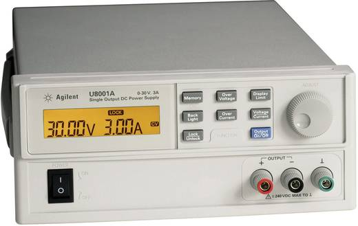 Labvoeding, regelbaar Keysight Technologies U8001A 0 - 30 V/DC 0 - 3 A 90 W Aantal uitgangen 1 x