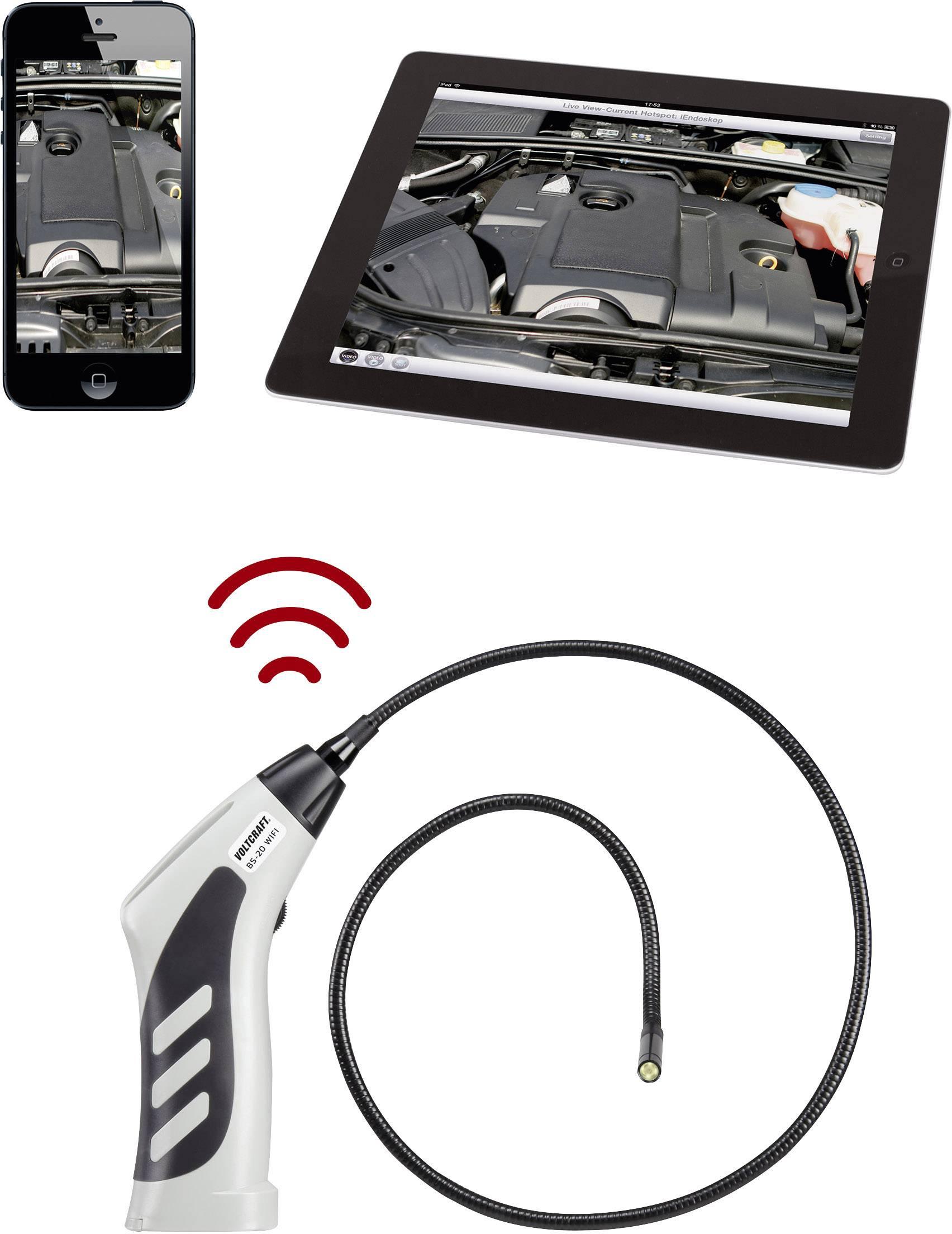 VOLTCRAFT BS-20 WIFI Endoscoop Sonde-Ø: 8 mm Sondelengte: 85 cm LED ...
