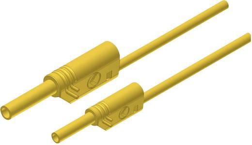 SKS Hirschmann MAL S WS 2-4 100/1 Veiligheidsmeetsnoer [ Banaanstekker 4 mm - Banaanstekker 2 mm] 1 m Geel