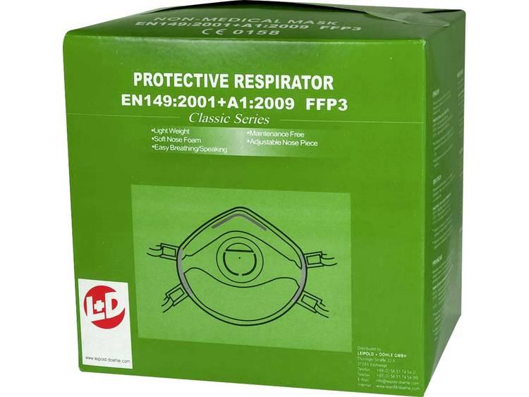 Upixx Fijnstofmasker 26184 Filterklasse-beschermingsgraad: FFP3 NR D 10 stuks