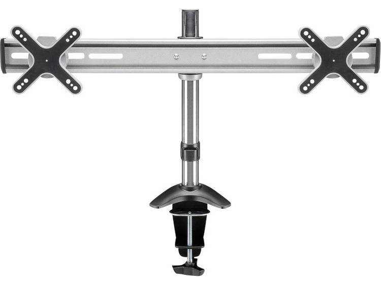 Monitor-tafelbeugel Goobay ScreenFlex Twin 33,0 cm (13) - 58,4 cm (23) Kantelbaar en zwenkbaar 2-voudig