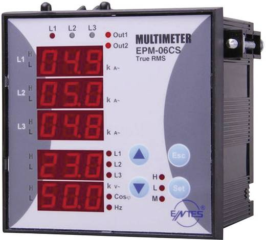 ENTES EPM-06-96Inbouwinstrument EPM-06-96 3-fasige multimeter inbouwinstrument Spanning, stroom, frequentie, bedrijfsure