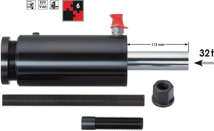 Image of Vigor V2874 Hydraulische druk- en trekcilinder 32 t, 6-delig