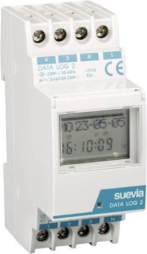 DIN-rail schakelklok Digitaal Suevia Data Log II 230 V/AC 16 A/250 V