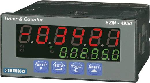 EZM-4950.2.00.2.0/01.01/0.0.0.0 6-cijferige teller met voorinstelling met timer, 2 relaisuitgangen en RS-485 interface