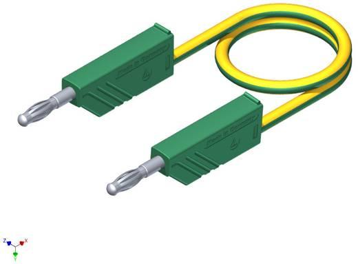 SKS Hirschmann CO MLN 50/2,5 Meetsnoer [ Banaanstekker 4 mm - Banaanstekker 4 mm] 0.50 m Geel-groen