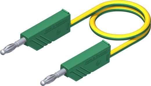Meetsnoer SKS Hirschmann CO MLN 25/2,5 [ Banaanstekker 4 mm - Banaanstekker 4 mm] 0.25 m Geel-groen