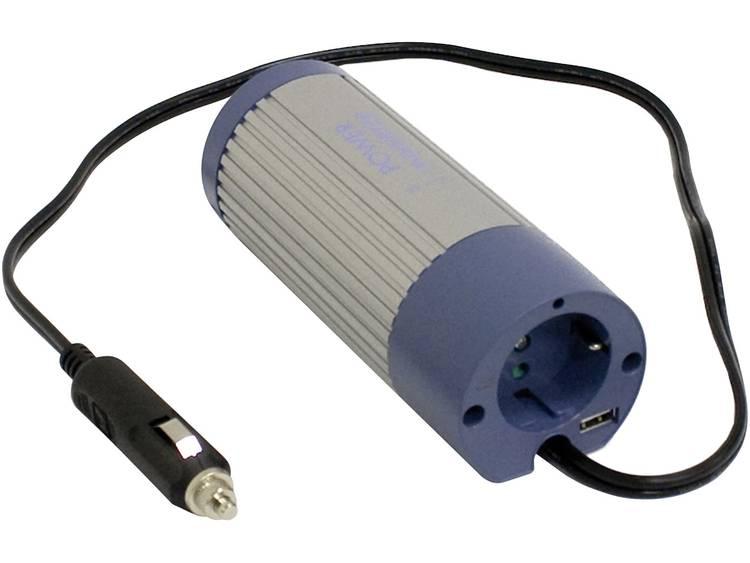 Omvormer MeanWell A301-100-F3 100 W 12 V-DC 10 15 V-DC Sigarettenaanstekerstekker Geaarde contactdoo
