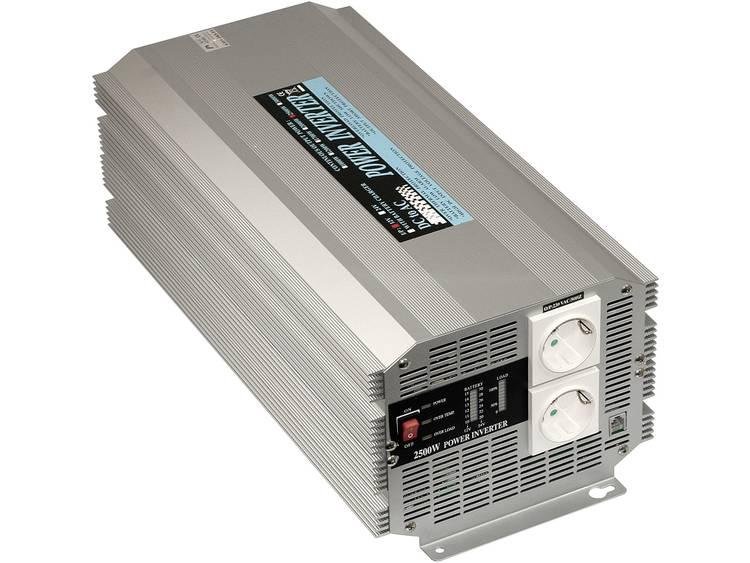 Omvormer MeanWell A301-2K5-F3 2500 W 12 V-DC 10 15 V-DC Schroefklemmen Geaarde contactdoos