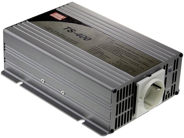 Omvormer MeanWell TS-400-212B 400 W 12 V-DC 10.5 15 V-DC Schroefklemmen Geaarde contactdoos