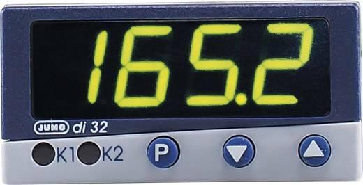 Jumo di 32 Temperatuurregelaar PID Pt100, Pt1000, KTY11-6, L, J, U, T, K, E, N, S, R, B, D, C -200 tot +2495 °C Relais 3 A, Transistor (l x b x h) 112.5 x 48 x 24 mm