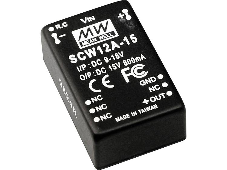 DC DC converter Mean Well SCW12B 12 1000 mA