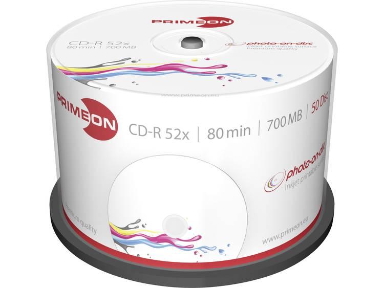 Primeon 2761105 CD-R 80 disc 700 MB 50 stuks Spindel Bedrukbaar