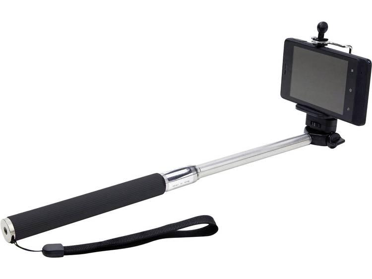 Dicota Selfie stick 116 cm 8.5 cm Zwart-zilver