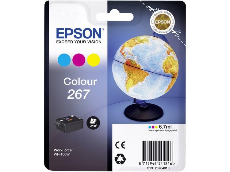 Epson Inkt T2670 267 Origineel Cyaan Magenta Geel C13T26704010
