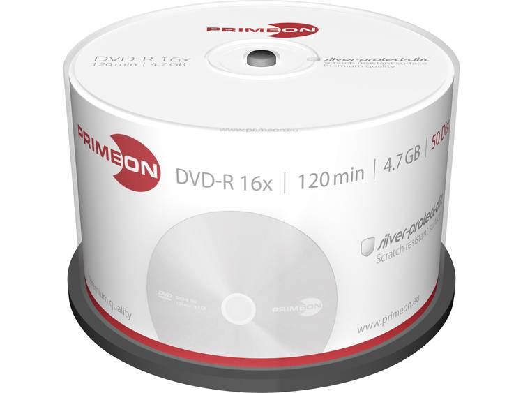 DVD-R disc 4.7 GB Primeon 2761204 50 stuks Spindel Mat zilver oppervlak