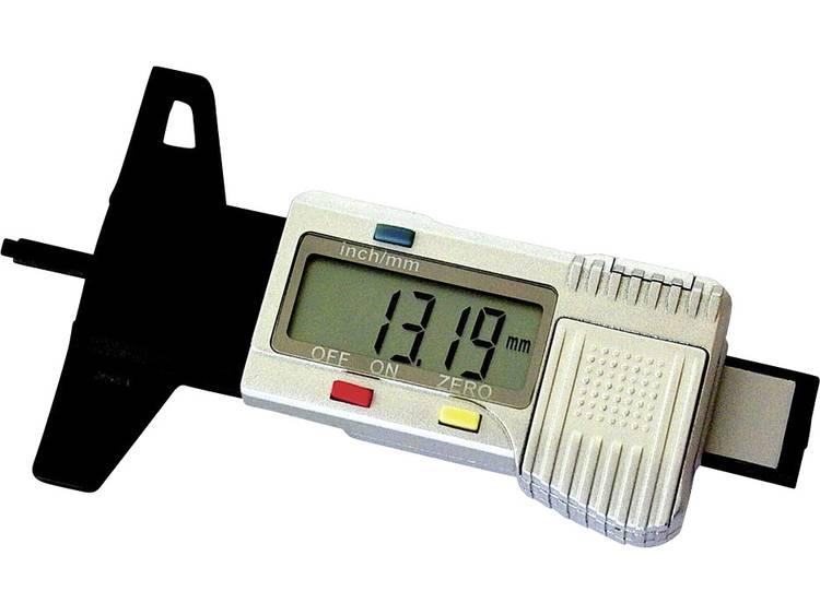 Kunzer Digitale profieldieptemeter Geschikt voor Autos, vrachtwagens, motoren, etc