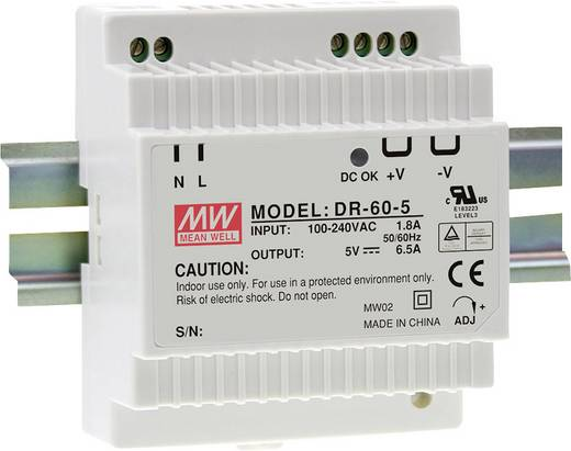Mean Well DR-60-24 Din-rail netvoeding 24 V/DC 2.5 A 60 W 1 x